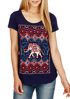 Lucky Brand Dotted Elephant Tee