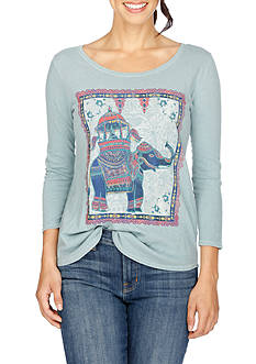 Lucky Brand Elephant Ride Tee