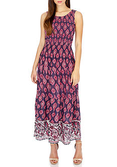 Lucky Brand Smocked Maxi Dress