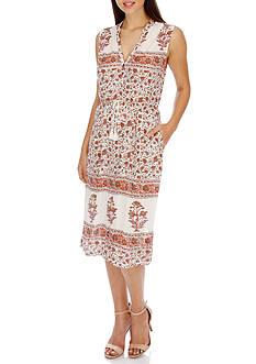 Lucky Brand Mar-Printed Knit Dress