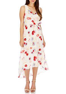 Lucky Brand Mar-Painted Floral Maxi