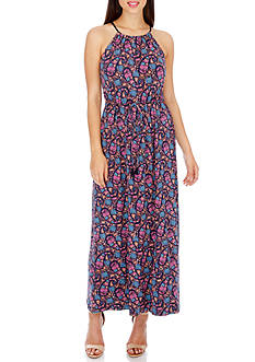 Lucky Brand Mar- Party Paisley Maxi Dress