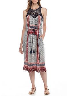 Lucky Brand Macrame Dress