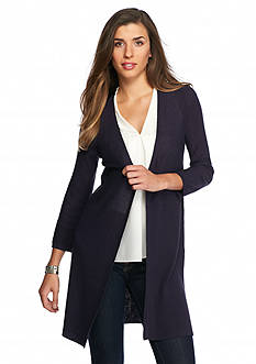 Cable and Gauge Long Ribbed Cardigan