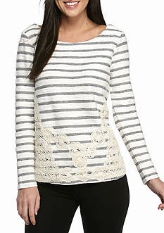 Cable & Gauge Lace Sweater