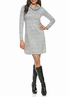 Cable & Gauge Cowl Neck Swing Dress