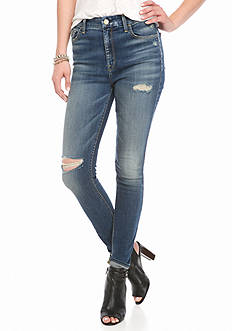 7 For All Mankind High Waist Destructed Skinny Jean