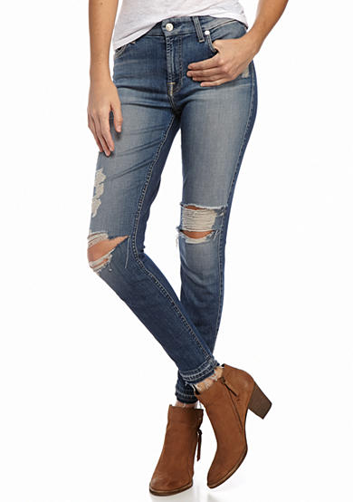 7 For All Mankind® Ankle Skinny Released Hem Jean