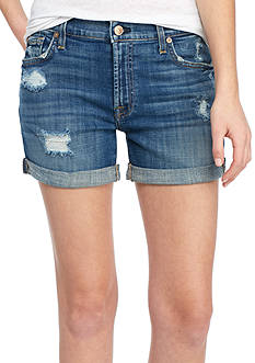 7 For All Mankind Relaxed Mid Roll Jean Shorts