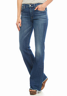 7 For All Mankind® Raw Hem Flare Jeans