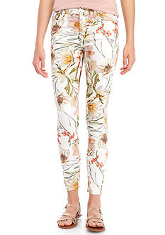 7 For All Mankind The Ankle Skinny Clean Print Jeans