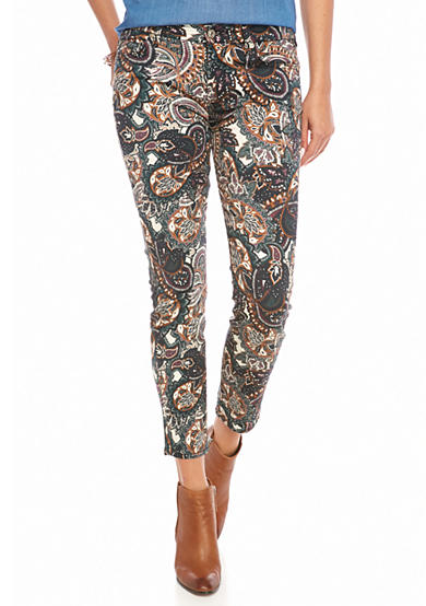 7 For All Mankind® Paisley Ankle Skinny Pants