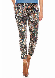 7 For All Mankind Paisley Ankle Skinny Pants