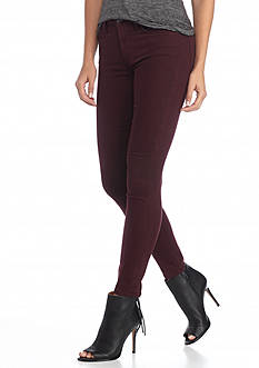7 For All Mankind Color Sateen Ankle Skinny Jeans