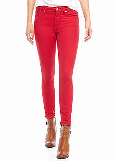 7 For All Mankind Color Sateen Ankle Skinny
