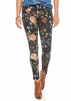 7 For All Mankind Floral Botanical Ankle Skinny Pant