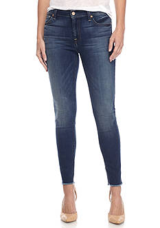 7 For All Mankind Raw Hem Ankle Skinny Jean