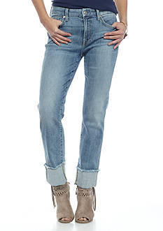 7 For All Mankind® Wide Raw Cuff Boyfriend Jeans