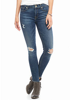 7 For All Mankind Destructed Ankle Skinny Jean