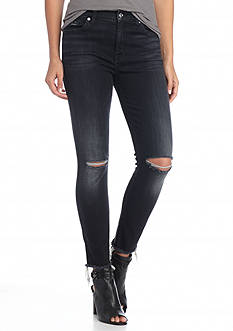 7 For All Mankind High Waist Destructed Skinny Jeans