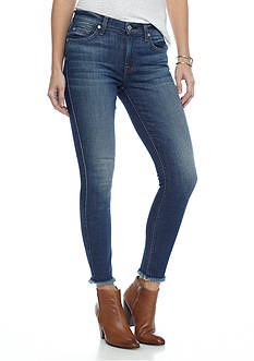 7 For All Mankind Skinny Ankle Raw Hem Jeans
