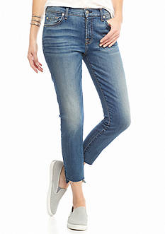 7 For All Mankind Ankle Skinny Step Hem Jeans