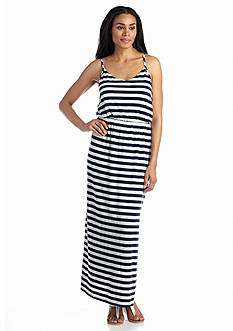 Grace Elements Spaghetti Strap Striped Maxi Dress