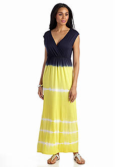 Grace Elements Tie Dye Cap Sleeve Maxi Dress