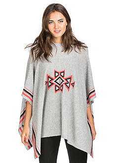 Ply Cashmere™ Striped Crew Neck Poncho
