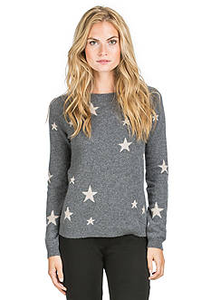 Ply Cashmere™ Crew Neck Scattered Star Pullover