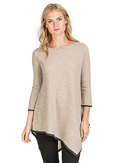 Ply Cashmere™ Handkerchief Tunic  Pullover Sweater
