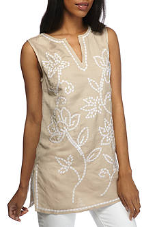 Grace Elements Embroidered Linen Tunic