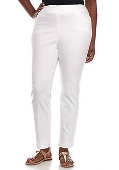 Grace Elements Plus Size Bangalene Pull-On Ankle Pants