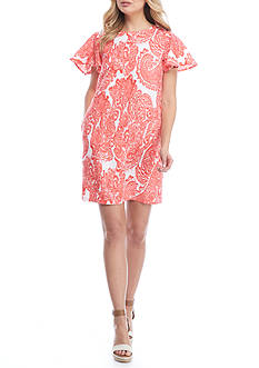 Grace Elements Printed Linen Dress
