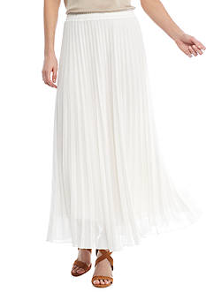 Grace Elements Pull-On Pleated Maxi Skirt