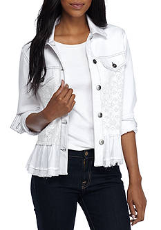 Grace Elements Lace Denim Jacket