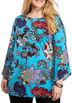 Grace Elements Plus Size Ruffle Bell Sleeve Tunic