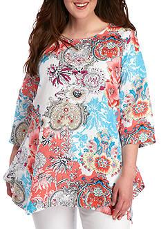 Grace Elements Plus Size Floral Bloom Tunic