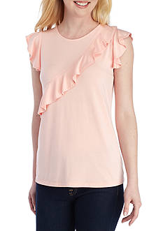 Grace Elements Ruffle Cap Sleeve Tee