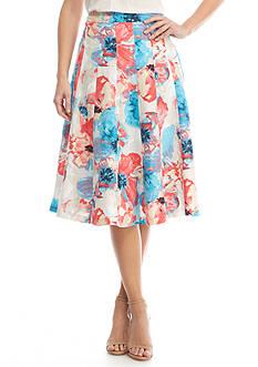 Grace Elements Floral Linen Skirt