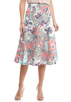 Grace Elements Floral Bloom Linen Skirt