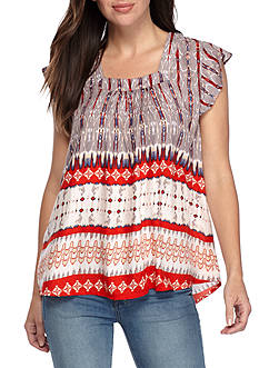 Grace Elements American Tribal Top