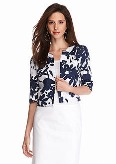 Grace Elements Floral Linen Jacket