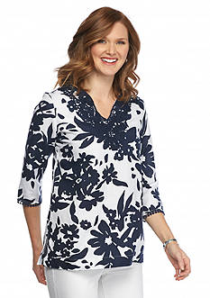 Grace Elements Floral Tunic Top
