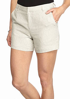 Grace Elements Striped Linen Shorts