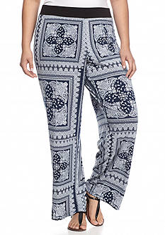 Grace Elements Plus Size Bandana Print Soft Pants