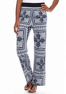 Grace Elements Paisley Floral Pull-on Soft Pants