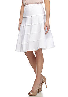 Grace Elements Tiered Linen Skirt