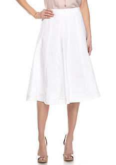 Grace Elements Seamed Linen Midi Skirt