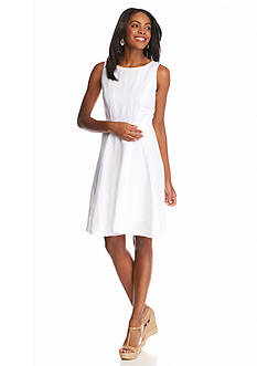 Grace Elements Solid Seamed Linen Dress